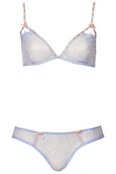 6602caee33 Ice Blue Triangle Bra and Mini Knickers