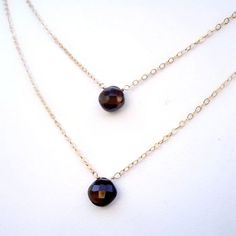 Smoky Quartz Necklaces Gold Jewelry Brown by jewelrybycarmal, $85.00