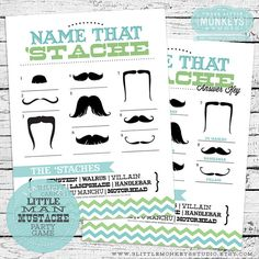 Trendy Baby Shower Games For Boys Little Man Etsy Baby Shower Gifts For Guests, Baby Shower Prizes, Baby Shower Fun, Baby Shower Cards, Baby Shower Favors, Baby Shower Themes, Baby Boy Shower, Baby Shower Invitations, Shower Ideas