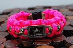 Military Spouse Charm Bracelet by ParaWear550 on Etsy, $13.50