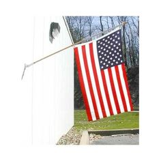 "US Flag Pole Kit with Adjustable Bracket by US Flag Store. Save 40 Off!. $17.95. 2"" Wooden Ball Finial. Adjustable Angle Metal Bracket with White Enamel Finish. Includes 3x5ft Polyester Flag, Flagpole, Finial, Anti-Wrap Device, Bracket, and Flag Clips. Low Cost Shipping Available!. This attractive American flag and flagpole kit includes a 3ft x 5ft polyester USA flag with metal grommets, a wood effect metal 6ft flagpole with 2"" wooden ball finial, anti-wrap device, sturdy metal adjustable…"