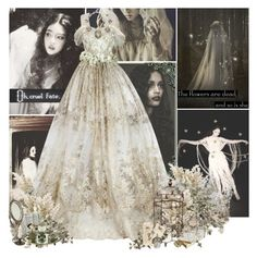 """The Corpse Bride"" by mlleemilee ❤ liked on Polyvore featuring Erickson Beamon, Shabby Chic, Berkshire, Bullet, DK, Vanessa Bruno, Sweet Romance, ghost and haunting"