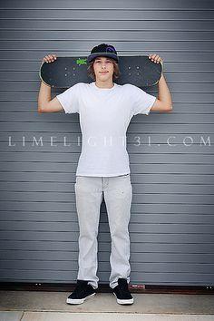 senior boy skateboarder