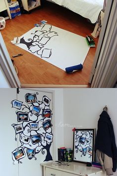 diy wall decor... OMG @Chelsea Rose Stover please make this for me for my dorm room please!