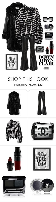 """""""Friday Night Fashion"""" by kotnourka ❤ liked on Polyvore featuring Marques'Almeida, David Koma, Loewe, Chanel, Lancôme, Americanflat and Gucci"""