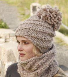 Вязание шапки и берета из толстой пряжи