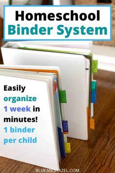 Our Weekly Binder System: Homeschool Organization Series Part 1