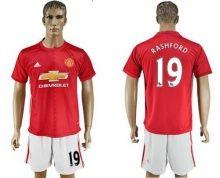Manchester United #19 Rashford Red Home Soccer Club Jersey