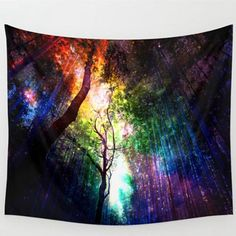 150×130cm Retro Forest Tapestry Wall Hanging Blanket Yoga Beach Towel Home Decoration