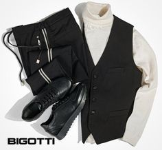 Urban mix: sporty elements and tailored classic pieces for a cool, unconventional, but balanced look. Choose your favorite pieces in our stores and on www.bigotti.ro! #Bigottiromania #Romania #ootdmen #ootd #styleoftheday #urbanmix #lookoftheday #mensfashion #mensstyle #mensclothing #menswear #mensoutfits #cool #layering #mixandmatch #sneakers Mens Attire, Mix N Match, Stylish Men, Romania, Layering, Men's Fashion, Menswear, Vest, Ootd