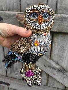 Hercules the beaded owl by Betsy Youngquist by betsyyoungquist