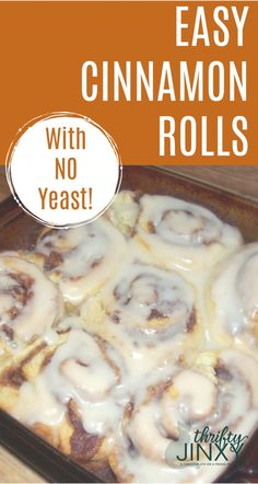 and Easy Homemade Cinnamon Rolls with No Yeast! There's no need to wait for the dough to rise with this Quick and Easy No Yeast Cinnamon Rolls recipe!There's no need to wait for the dough to rise with this Quick and Easy No Yeast Cinnamon Rolls recipe! No Yeast Cinnamon Rolls, Healthy Cinnamon Rolls, Easy Homemade Cinnamon Rolls, No Yeast Rolls, Connamon Rolls, Cinnamon Sugar Muffins, Cinnamon Roll Bread, Health Desserts, Snacks