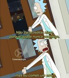 Rick and Morty Rick And Morty S2, Ricky And Morty, Film Quotes, Book Quotes, Series Movies, Cute Dolls, Cartoon Characters, Nerd, Funny Memes