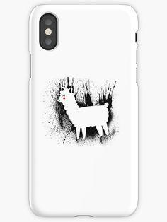 """Mr. Blot - Artistic Alpaca - Black splatter llama"" iPhone Cases & Covers by Chris  Kelly   Redbubble"