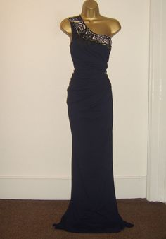 b3333d568ac7 LIPSY FAB ONE SHOULDER LACE DESIGN MAXI EVENING PARTY OCCASION DRESS SIZE  10 #fashion #