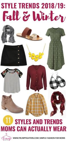 Discover the must-have list of trends for fall and winter fashion! Your outfits will be classy, yet trendy with this list of up-to-date colors, patterns, and styles for that are MOM-friendly! Whether you are looking for cool fall fashion or cute wi Fall Outfits 2018, Cute Winter Outfits, Mom Outfits, Fashion Outfits, Fashion Ideas, Fashion Hacks, Nice Outfits, Winter Clothes, Winter Dresses
