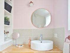une salle de bains entre rose et gris souris | maison de rêve, par ... - Carrelage Salle De Bain Rose