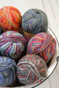 Feed your self-striping sock yarn stash with new Opal Talisman! It's a sturdy blend of wool and polyamide, perfect for hard-wearing knitted socks. And it's machine-washable!