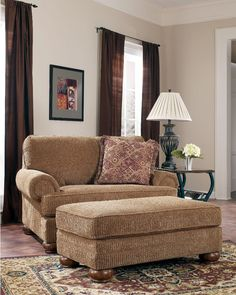 Amazing Oversized Living Room Chair Big Comfy Chair With Brown Fabric Vertical Curtain And Red Wool Persian Area Rug