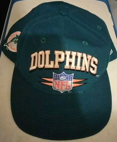 6042b3d62 Vintage Logo Athletic NFL Pro Line MIAMI DOLPHINS Football Snapback Hat Cap   fashion  clothing  shoes  accessories  mensaccessories  hats (ebay link)