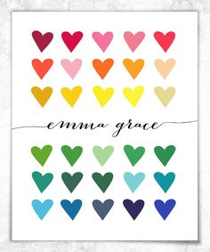 Paper Heart Collection Personalized Print