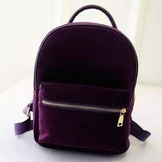 5911968ffc2f0 Gold Velvet Small Rucksack school backpack