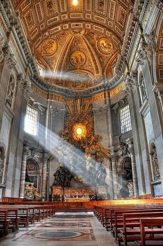 ROME, ITALY -St. Peter's Basilica, Rome. I would love to one day see all of the gothic architecture <3