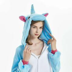 Baggy Unicorn Adult Plush Kigurumi Onesies Blue – alfagoody Adult Pajamas, Animal Pajamas, Kids Pajamas, Cute Onesies, Animal Costumes, Club Dresses, Animals For Kids, Lounge Wear