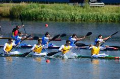 Australia. Tate Smith, Dave Smith, Murray Stewart, and Jacob Clear of Australia compete in the Men's Kayak Four (K4) 1000m Canoe Sprint on Day 13.    Best Of London: Day 13 - Slideshows | NBC Olympics