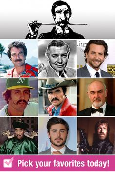 Vote to Win: Favorite Famous Mustaches Famous Mustaches, Places To Visit, Reading, Books, Movies, Movie Posters, Libros, Films, Book