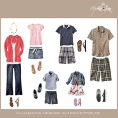 Fun casual family (great outfits for a spring/summer photo shoot)