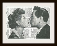 I Love Lucy Vintage Dictionary Art Print Home Or By Lovetodefine