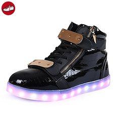 [Present:kleines Handtuch]Schwarz 2 EU 38, weise Sneaker USB JUNGLEST® Unisex-Erwachsene Aufladen