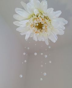 flower baby mobile, Available in other colors,fairy baby mobile, fairy mobile, crystal baby mobile, baby mobile, flower mobile, white mobile