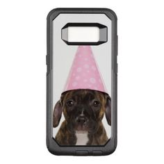 #Pitbull Puppy Wearing Party Hat OtterBox Commuter Samsung Galaxy S8 Case - #pitbull #puppy #dog #dogs #pet #pets #cute #doggie