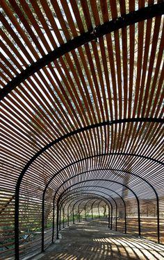 puff adder walkway snakes · babylonstoren garden · south africa ::: by patrice taravella · engineered by terry de waal