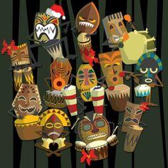 On the twelfth day: Twelve (tiki) Drummers Drumming