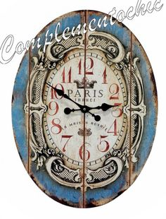 Featuring A Distressed Face And French Typography, This Lovely Metal Wall  Clock Brims With Antiqued Appeal. Product: Wall ClockConstruction Material:  ...