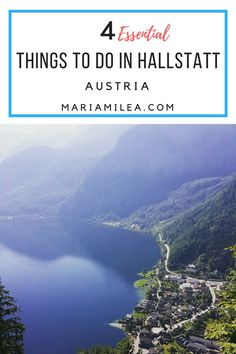4 essential things to do & see when visiting Hallstatt, Austria. From hiking, taking the funicular and enjoying a UNESCO World Heritage view, it's all here. Travel 2017, Europe Travel Tips, Spain Travel, Travel Packing, Innsbruck, Luxembourg, Munich, Halstatt Austria, Travel Around The World