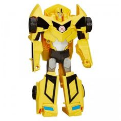 The Transformers Robots in Disguise 3-Step Changers Bumblebee figure changes between robot and car in just three easy steps.