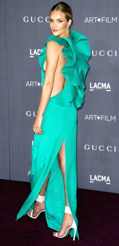 RHW in Gucci at LACMA #sideboob
