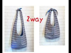 DIY 2wayショルダーバッグの作り方2way bag tutorial and pattern making