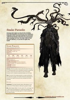 Dungeon Master Tuz's Tools of Trade — Bloodborne Monster Manual - Forbidden Woods I. Dungeons And Dragons Classes, Dungeons And Dragons Characters, Dungeons And Dragons Homebrew, Dnd Characters, Monster Concept Art, Fantasy Monster, Monster Art, Monster High, Mythical Creatures Art