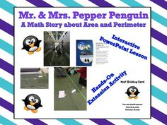 The download comes with a powerpoint presentation about a penguin couple, Mr. and Mrs. Pepper Penguin who are in need of a nest for their new baby.  Students will love this story about penguins and teachers will love integrating literature into math.  The powerpoint asks students to problem solve and create a nest to make Mrs.