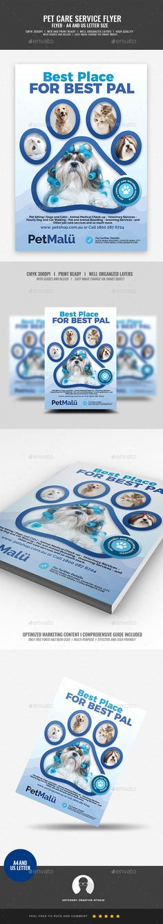 Pet Grooming and Spa Center - Corporate Flyers