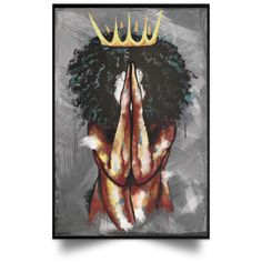 Melanin Queen Praying Poster – Black Girls Shop