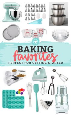 Kitchen Essentials: Our Baking FAVORITES!,Our favorite baking tools, small appliances, and kitchen gadgets. Everything you need to bake! // baking essentials // kitchen essentials // kitchen g. Wilton Candy Melts, Baking Gadgets, Baking Tools, Cake Baking Supplies, Baking Items, Cooking Equipment, Kitchen Equipment, Kitchen Tools And Gadgets, Kitchen Items