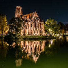 Johanneskirche am Feuersee in Stuttgart Stuttgart Germany, Bavaria Germany, Beautiful Places In The World, In This World, Travel Around The World, Around The Worlds, Costa Rica, Germany Castles, Wanderlust Travel