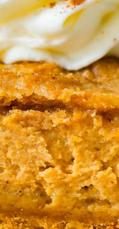 A chewy crust, silky pumpkin cheesecake center and a gingersnap crumble on top have made gingersnap pumpkin cheesecake bars my favorite pumpkin dessert. Pumpkin Cheesecake Bars, Pumpkin Bars, Baked Pumpkin, Pumpkin Dessert, Best Dessert Recipes, Fall Recipes, Holiday Recipes, Delicious Desserts, Holiday Foods