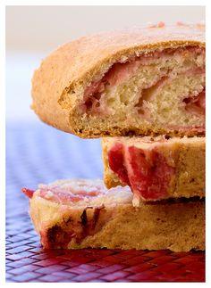 Rhubarb Scone Cake